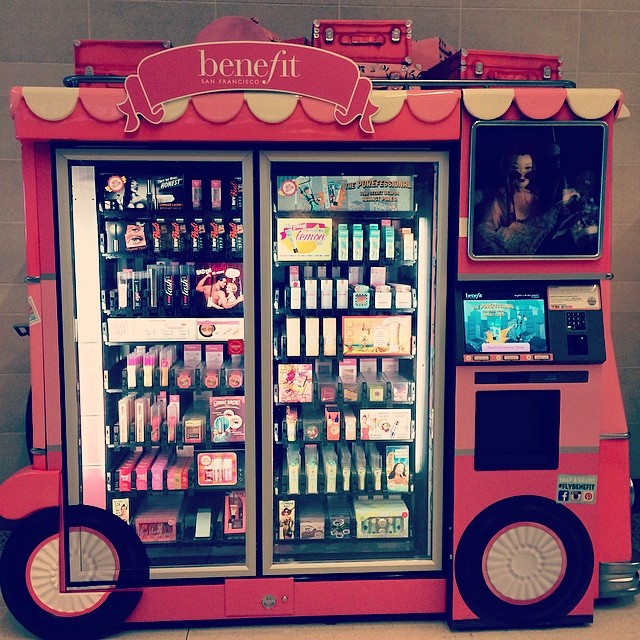 WHAT? This exists?? A makeup vending machine  Love it!! #dallaslovefield #texas #airport #whydidntithinkofthat