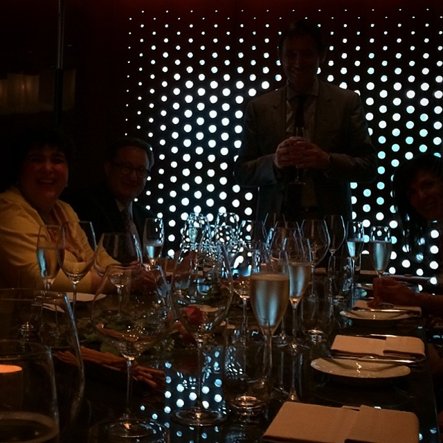 Our CEO welcoming the group to the beautiful #LincolnRistorante in #NYC for our new product development brainstorm. We hosted two of the top dermatologists in the nation to help pioneer what will be the next great physician dispensed #skincare innovations. How lucky am I to be involved with this?! #lovemylife #lovemyjob #skincarenerd #science #dermatology #skin