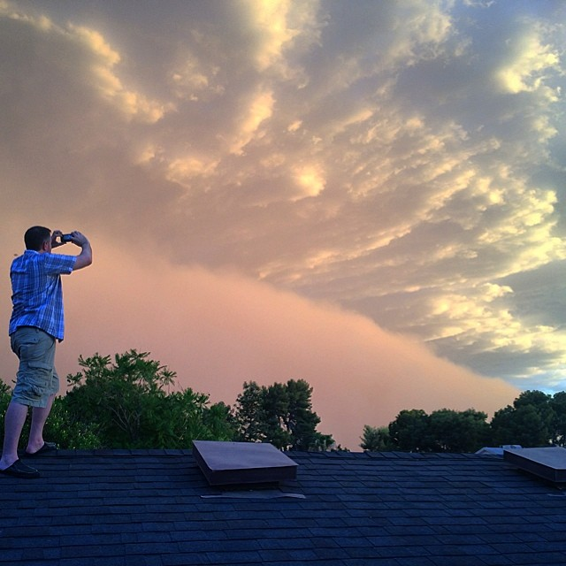 And we got off the roof not a second too soon... Literally  #latergram #haboob #monsoon #arizona #tempe