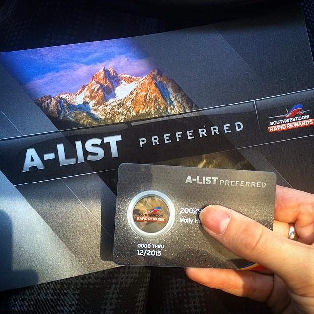 Heck yes! Next stop: companion pass ️ #frequentflyer #alistpreferred #iluvsouthwest #pointsonpoints #southwest #iflyswa #southwestair