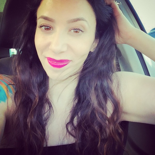 Had to play with my new hot pink lippie :D #liptar #occosmetics #pinklipssinkships #mermaidhair