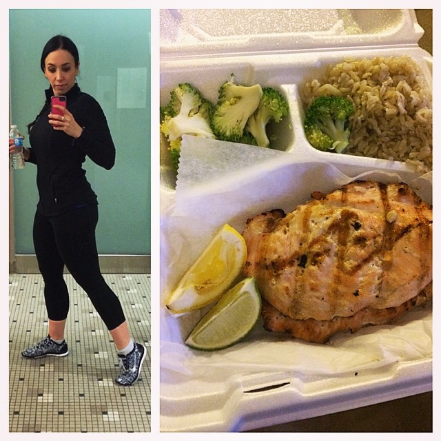I started #traveling in my gym clothes so I can #workout as soon as I get to my destination. Once I check in to my hotel, my motivation becomes approximately nil, so this stops that before it starts. I'm sitting here in my hotel, #bromeal in my belly (thanks @FitnessGrillNJ) workout already done. Ready to wrap up a few assignments and call it a night! #fitfam #fitfam #fittravel #parsippany #contestprep #frequentflyer #doyouevenbromeal