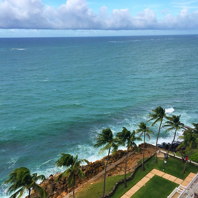 Not a bad #view from the balcony. #PuertoRico is lovely so far ️